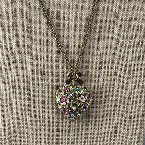Betsey Johnson Embellished Heart Necklace